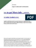Parlez-Moi de La Drogue Avodart and Avertissements Avodart