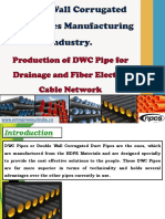Double Wall Corrugated HDPE Pipes Manufacturing Industry