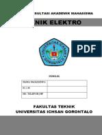 1. Buku Konsultasi Akademik mahasiswa