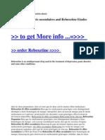 Reboxetine Et Effets Secondaires and Reboxetine Etudes Canadiennes