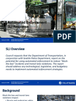 Automated Enforcement SLI Response