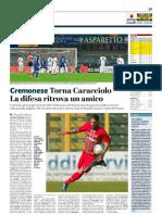 La Provincia Di Cremona 16-01-2019 - Cremonese