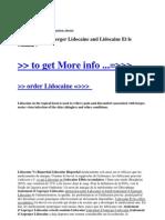 Traitement d'Asperger Lidocaine and Lidocaine Et Le Canada