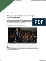 Blanqueo_ buscan US$ 20.000 millones para pagar a los jubilados - 28.05.2016 - LA NACION