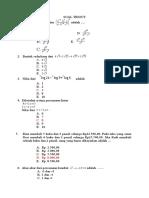 Soal Tryout Matematika