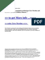 Utilisation Dans La Population Pediatrique Zero Nicotine and Est Zero Nicotine a Stablizer Humeur