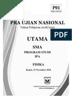 7. Soal Pra Un Fisika 2019 (Paket 1)