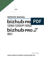 BizhubPRESS1250 1250P 1052 BizhubPRO951ServiceManual
