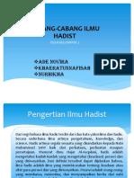 ILMU HADIS CABANG ILMU HADIS.pptx