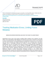 Tracking Medication Errors Limiting Future Mistakes