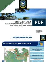 Ringkasan Umum Proyek Pipa Bawah Laut Lingga - Batam