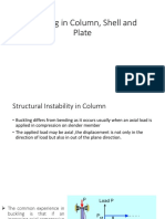 Buckling in Column, Shell and Plate