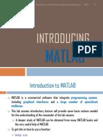 Introducing MATLAB