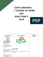 Yearly Scheme of Work Year 5 2019