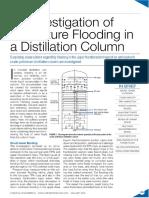 An Investigation of Premature Flooding in a Distillation Column