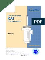 Traducere Manual Filtru Cu Autocuratire Krone KAF Bernouli