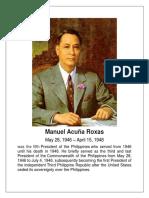Manuel Acuña Roxas