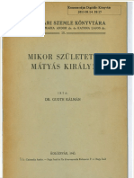 Guoth Kalman - Mikor Szuletett Matyas Kiraly  1943
