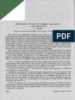 J. J. Wilkes - Boudary Stones in Roman Dalmatia