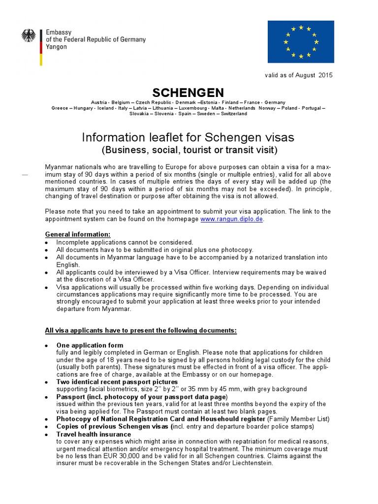Schengen Visa Travel Visa Passport