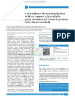 A Comparative Evaluation of the Remineralization p