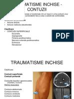 Traumatisme Inchise - Contuzii
