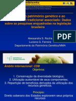 Acesso Ao Patrimônio Genetico e Conhecimento Tradicional Associado
