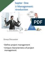 Chapter1 Project Mangement Introduction