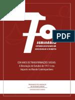 Anais Do VII Seminário Interdisciplinar Em Direito e Sociologia Da UFF