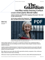 Theresa May omits Jeremy Corbyn from cross-party Brexit talks | Politics | The Guardian