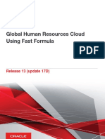 Global Human Resources Cloud Using Fast Formula