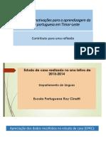 Estímulos e Motivações Para a Aprendizagem Da Língua Portuguesa em Timor Leste