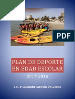 Plan de Deporte en Edad Escolar 2017-2018