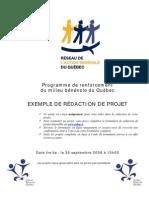 Exemple de Redaction de Projet