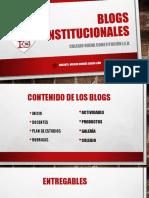 Blogs Institucionales