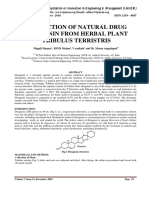 EXTRACTION OF NATURAL DRUG DIOSGENIN FROM HERBAL PLANT TRIBULUS TERRISTRIS