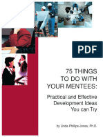 75 things to do with your mentees