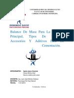 Aditivos y Accesorios Para La Cementacion