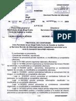 Protocol Înalta Curte de Casaţie şi Justiţie- SRI 2009