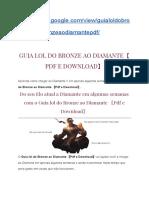 Guia lol do Bronze ao Diamante 〖Pdf e Download〗