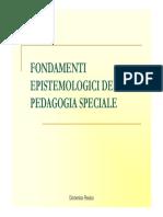 1 0 Fondamenti Epistemologici Della Pedagogia Speciale