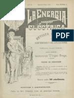 La Energía Eléctrica. 6-7-1900, No. 1