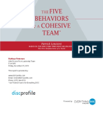 The Five Behaviors of a Cohesive Team sample report