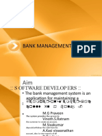 51520335 Banking System Abstract