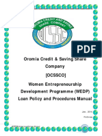 WEDP - Loan Policy & Procedures Manual -Final