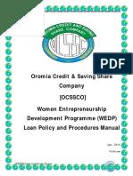 WEDP - Loan Policy & Procedures Manual -Final