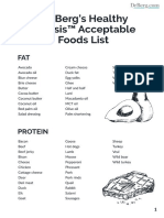 Dr. Berg's Healthy Ketosis™ Acceptable Foods List