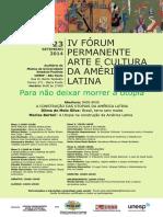 IV FÓRUM Cartaz 23.09