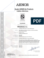 Afirenas-x Rz1-k(as) Iec y Une Certificado Aenor