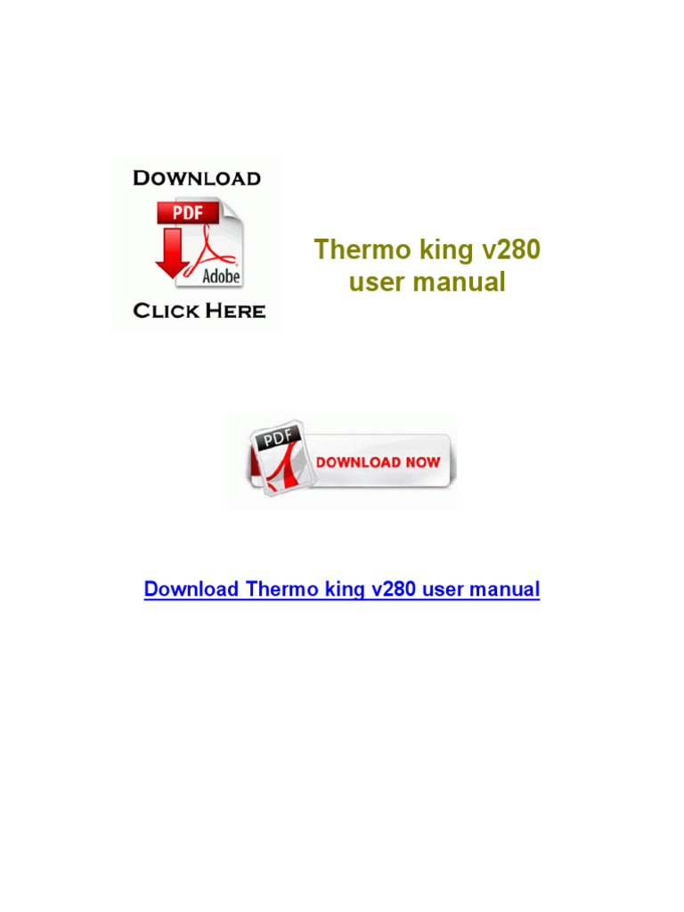 Thermo King v280 User Manual | Computadoras personales
